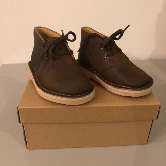 f153e151f7851 Clarks Shoes | Kids Brown Leather Desert Boot | Poshmark